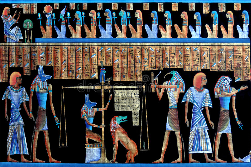Ancient egyptian papyrus royalty free stock images