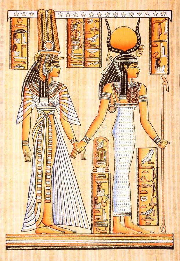 Ancient egyptian parchment stock illustration ...