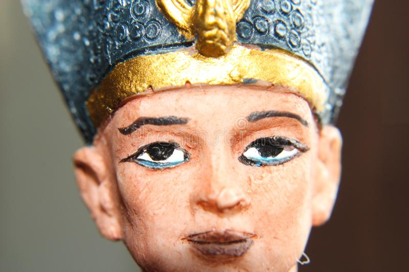Ancient Egyptian Pharaoh close up stock photography