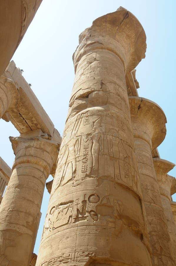 Ancient egyptian pillars stock image of