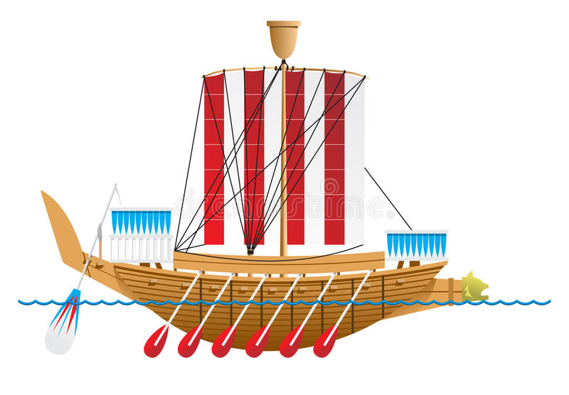 Download Ancient Egyptian warship. stock vector. Image of deck - 14692993