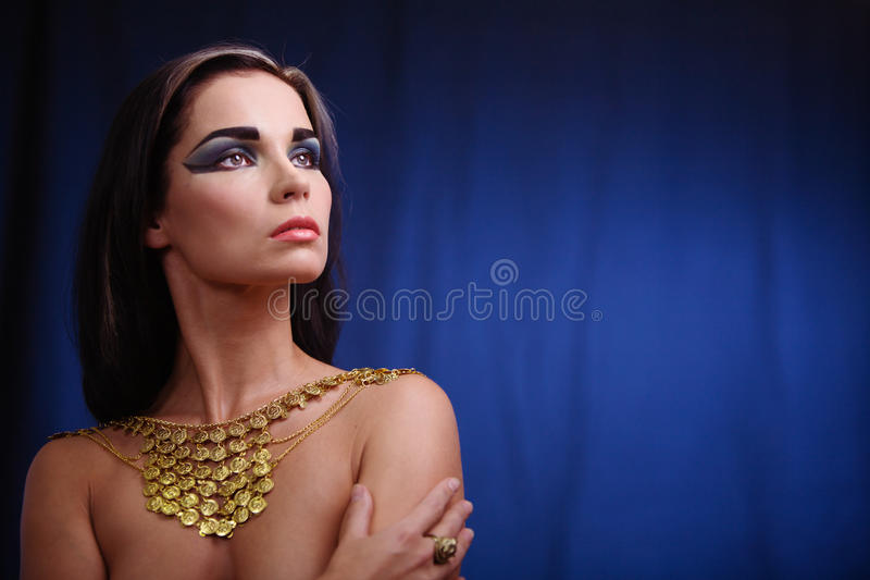 Ancient egyptian woman. Portrait of haughty egyptian woman in ancient style royalty free stock images