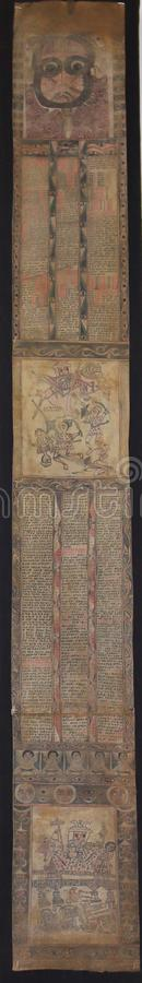 Ancient Ethiopian Scroll6 stock images