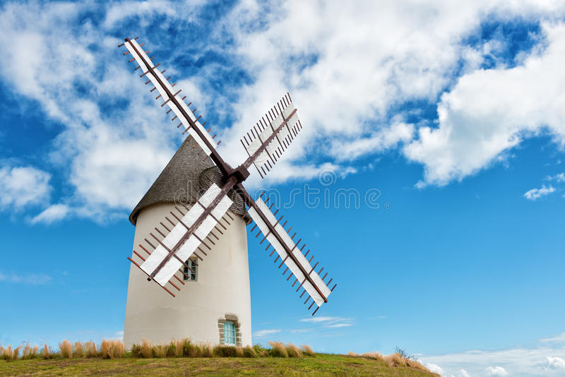 Ancient european windmill royalty free stock images