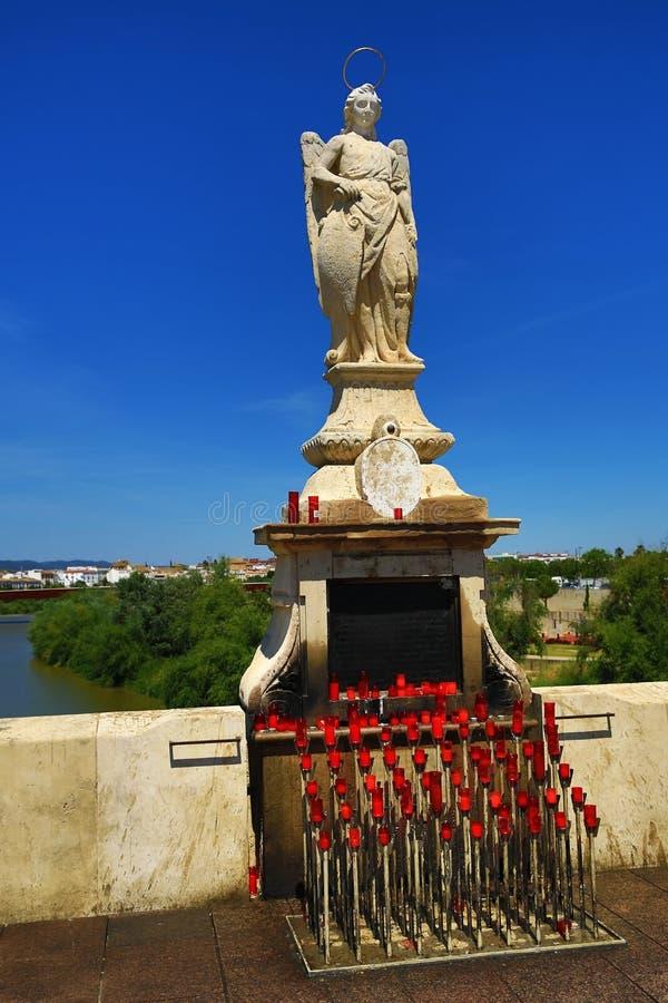 Ancient female sculpture on the Puente Romano. Cordoba, Spain stock photos