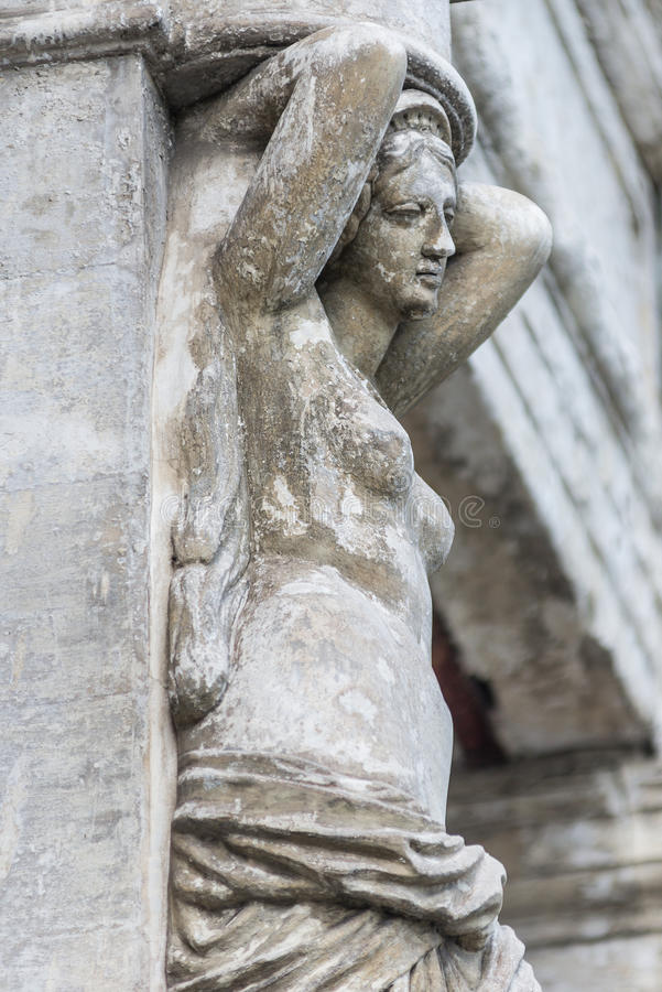 Ancient female statue royalty free stock images