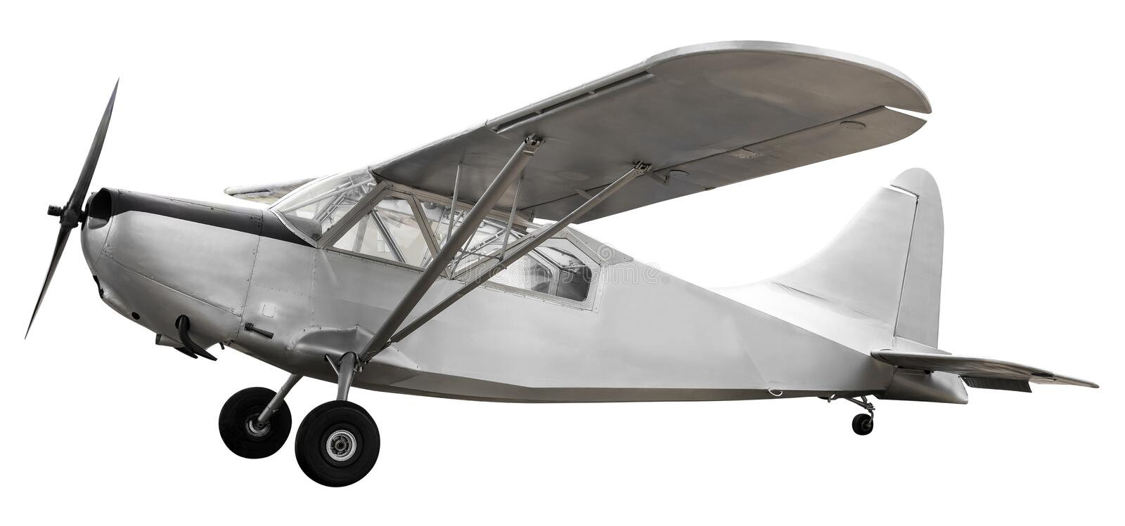Ancient fight airplane royalty free stock image