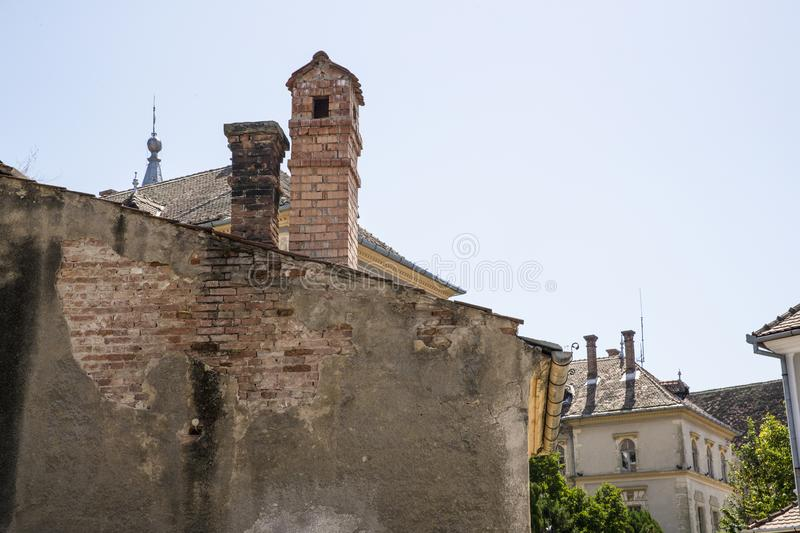 Ancient fire chimney in Romania royalty free stock photos