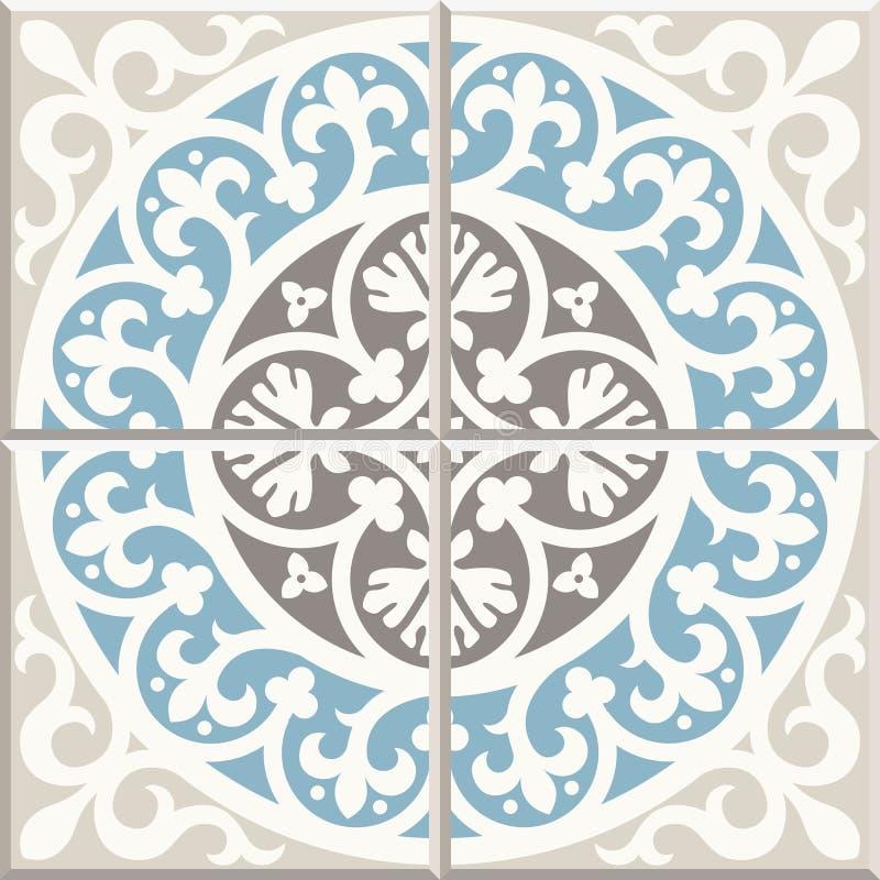 Free Ancient Floor Ceramic Tiles. Victorian English Floor Tiling Design, Seamless Vector Pattern Stock Image - 118764221