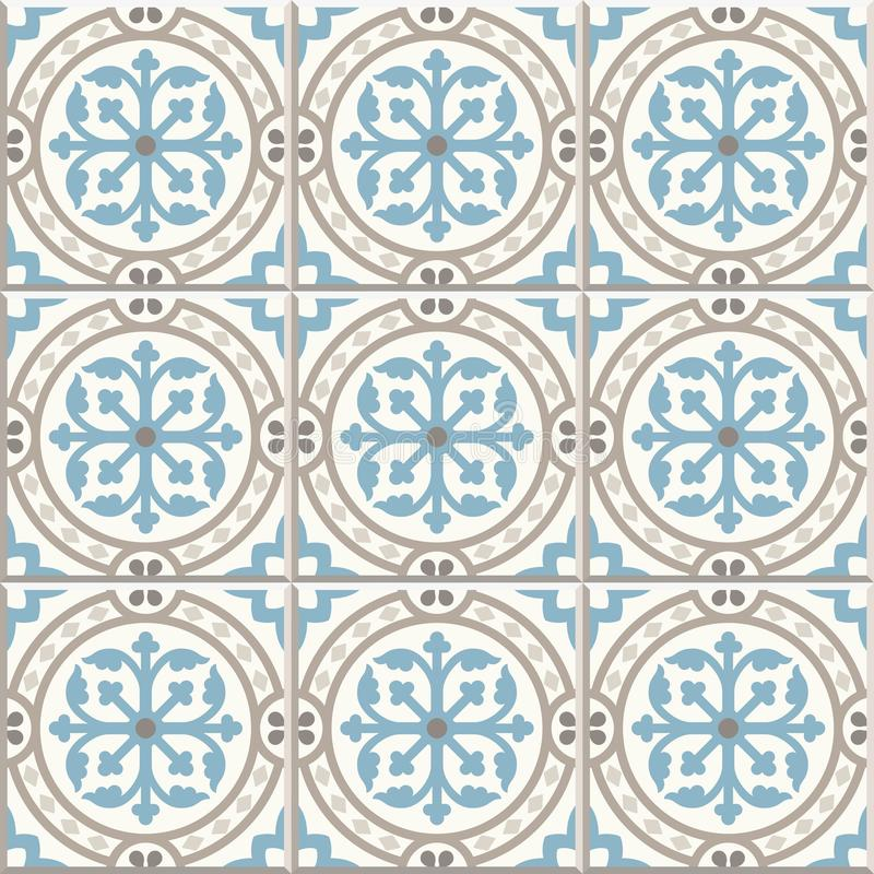 Free Ancient Floor Ceramic Tiles. Victorian English Floor Tiling Design, Seamless Vector Pattern Royalty Free Stock Photo - 118764265