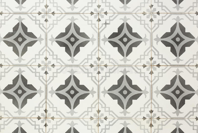 Ancient floor tiles. Ancient style of floor tiles pattern in gray tone stock photos