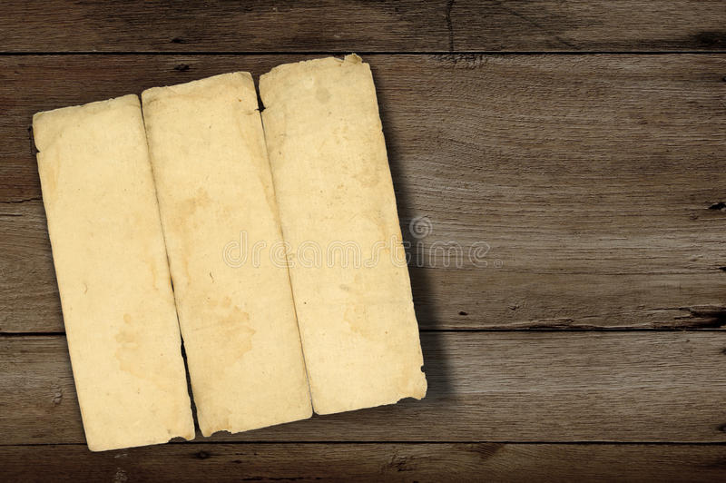 Ancient Fold Paper Stock Images