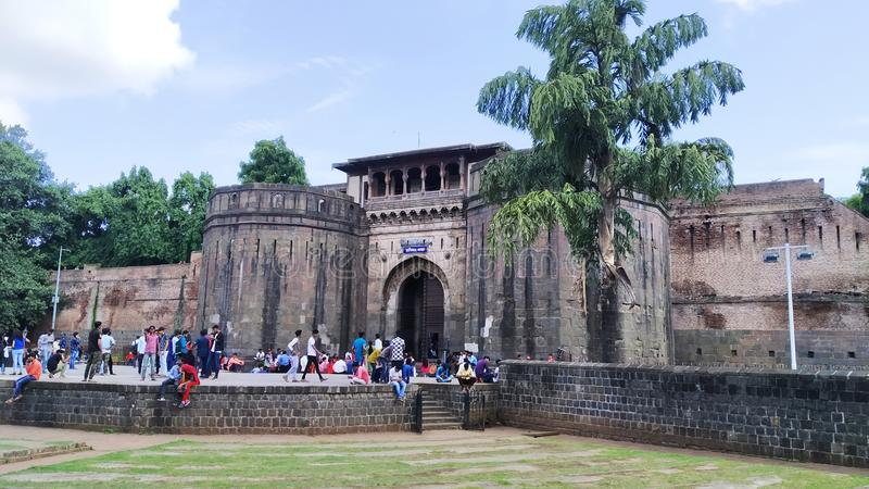 Ancient fort names Shaniwar Wada in Pune, India ruled once upon a time by Bajirao Peshwa. Ancient fort names Shaniwar Wada in Pune, India ruled once upon a time stock image