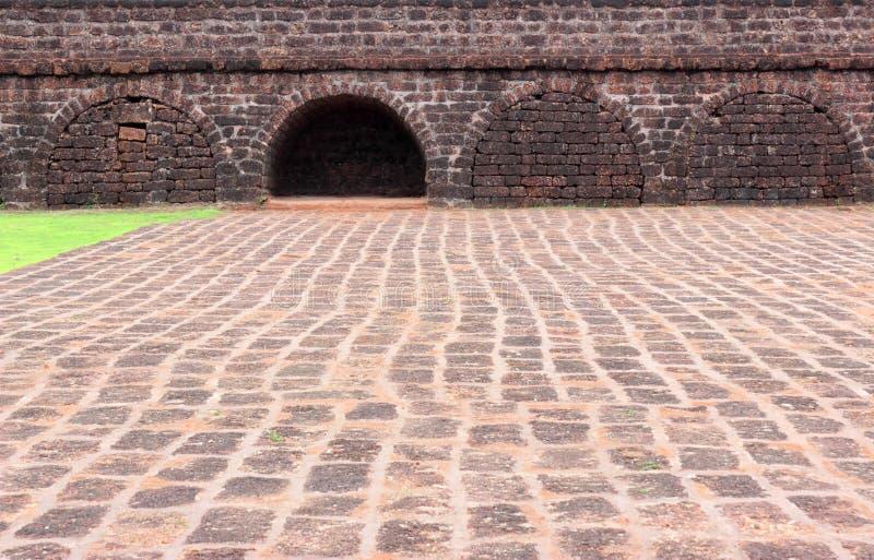 Ancient fort walls and door stock photo