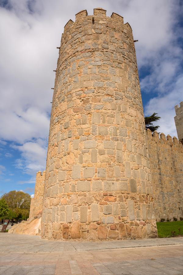 Ancient fortification of Avila stock photos