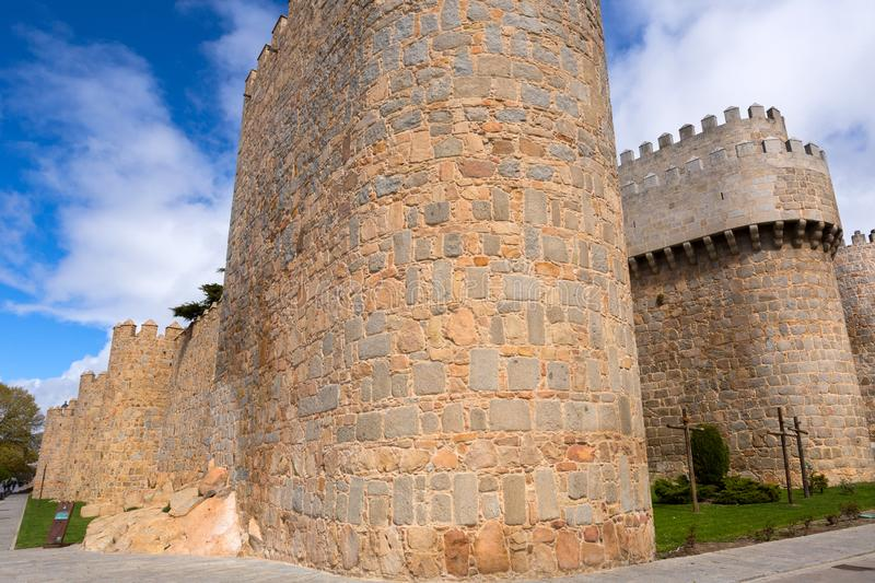 Ancient fortification of Avila royalty free stock photography