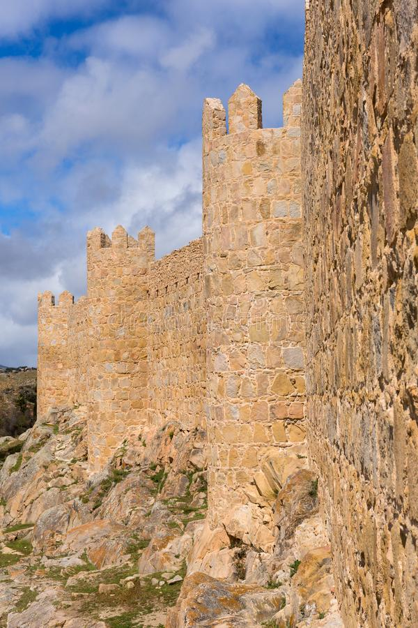 Ancient fortification of Avila royalty free stock photo