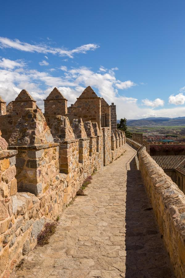 Ancient fortification of Avila stock image