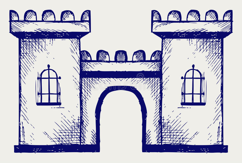 Download Ancient fortress stock vector. Illustration of castle - 27927665