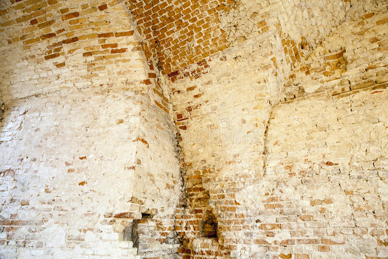 Ancient fortress, Grodno. Photographed close-up part of the ancient fortress, located in Grodno, Belarus stock photo