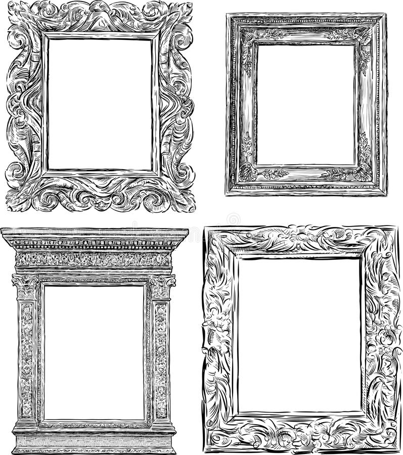Ancient frames stock vector. Illustration of paintings - 53573295