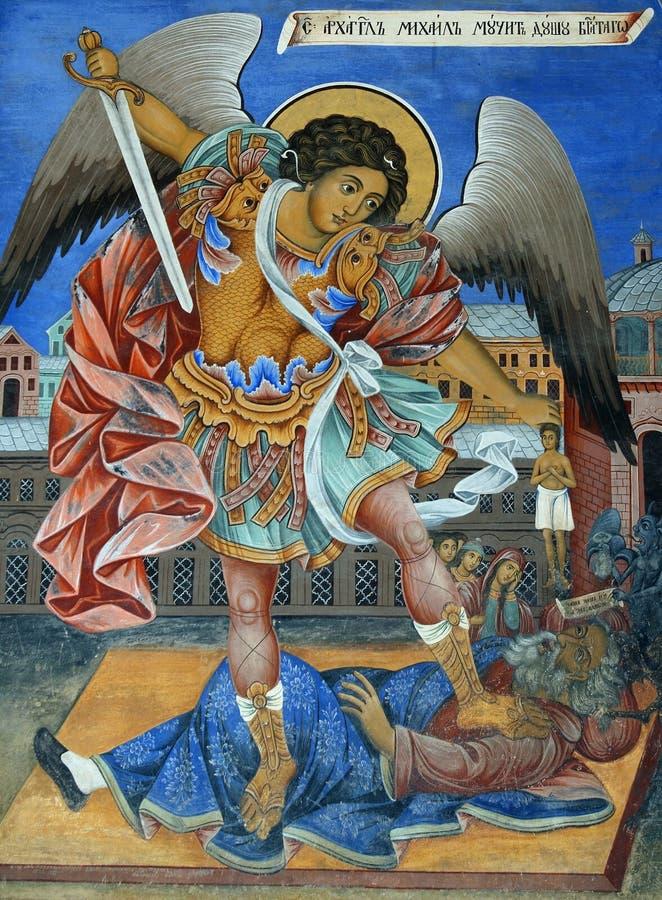 Ancient fresco royalty free stock image