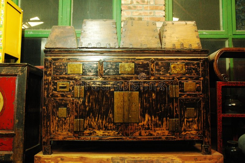 Ancient furniture stock image
