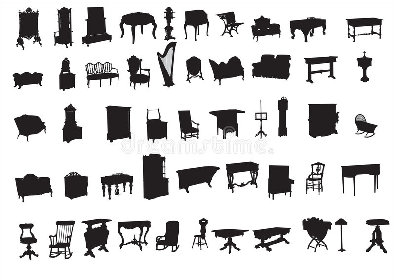 Ancient furniture stock photos