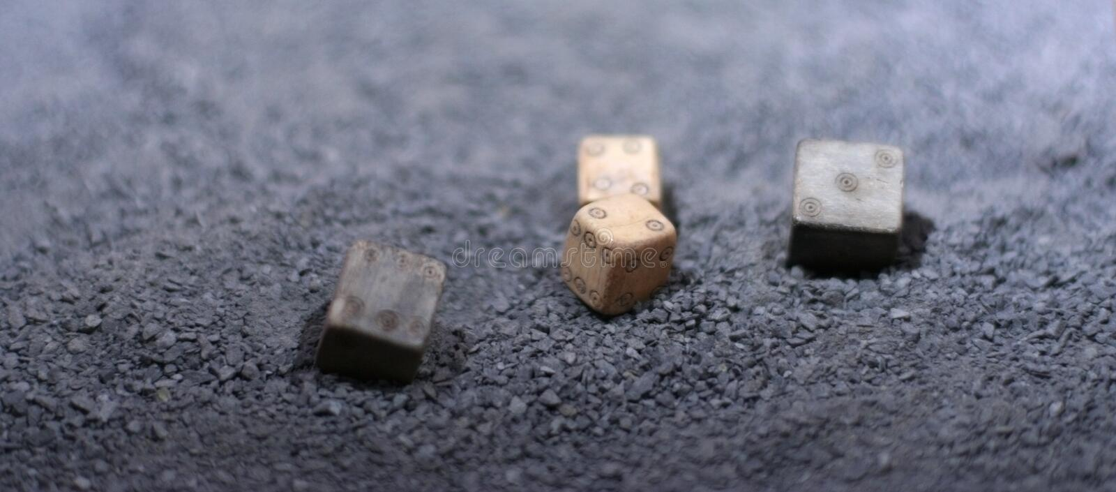 Ancient Game Of Dice Stock Photography