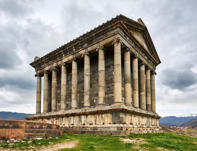 Ancient Garni pagan Temple stock images