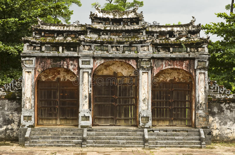 Download Ancient Gate of Minh Mang stock photo. Image of travels - 20420176