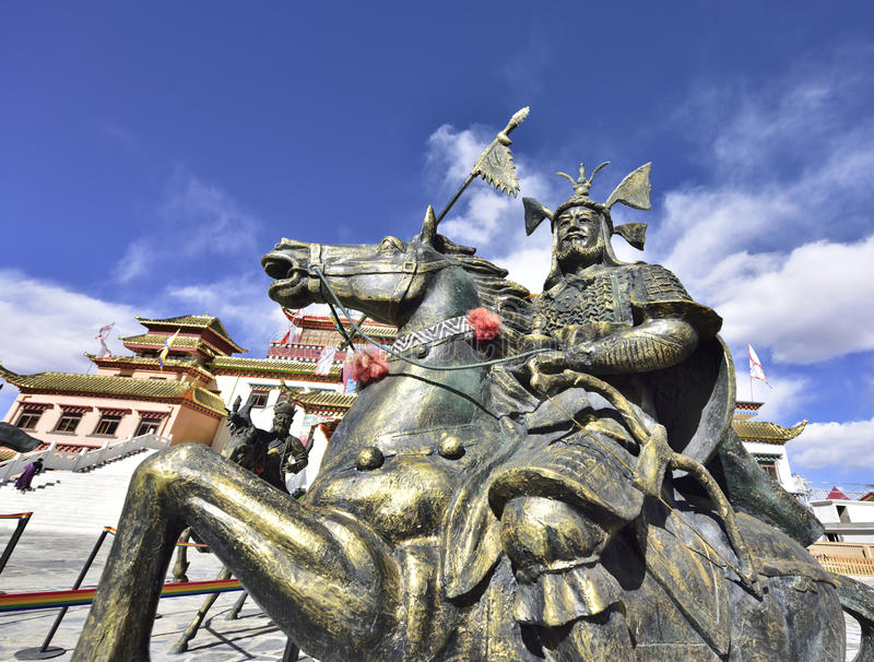 The ancient generals bronze statue royalty free stock photos