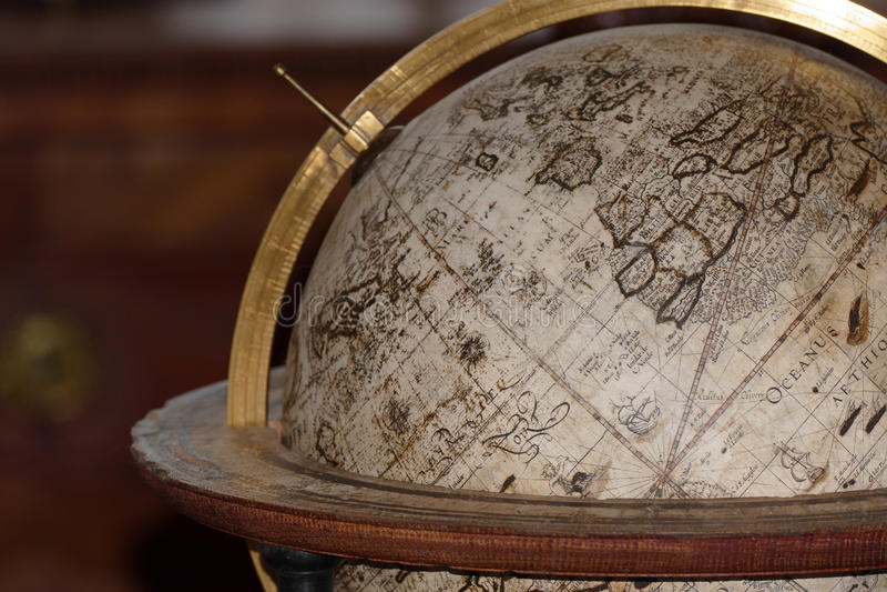 Ancient globe map royalty free stock photo