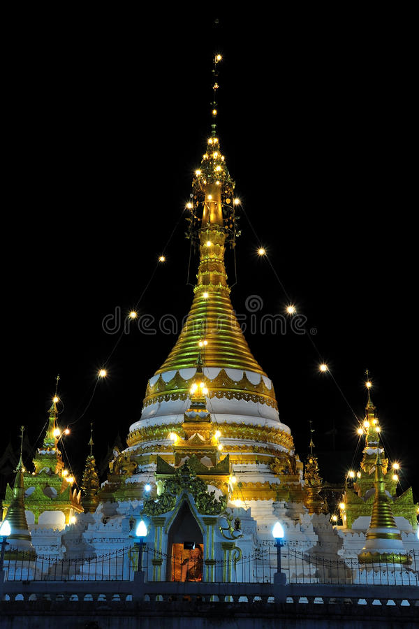 Ancient gold pagoda north Thailand. Ancient gold pagodas north Thailand stock photo
