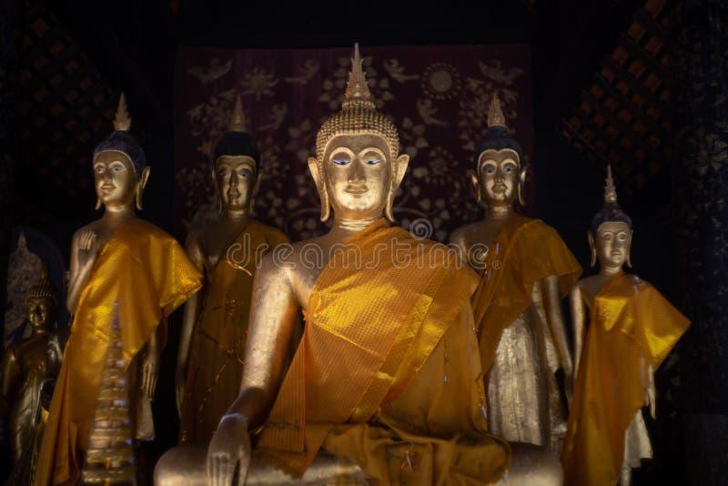 Ancient golden buddha state at Wat Phra That Lampang Luang ,Lampang ,Thailand royalty free stock photos