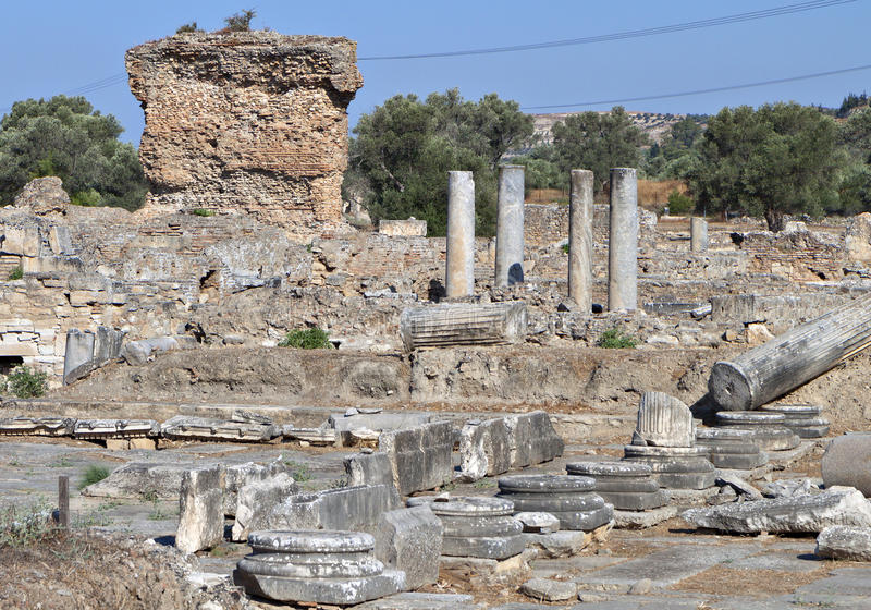 Ancient Gortyna at Crete island stock photo