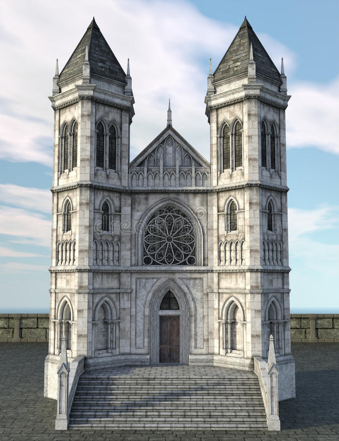 Ancient Gothic Castle royalty free illustration