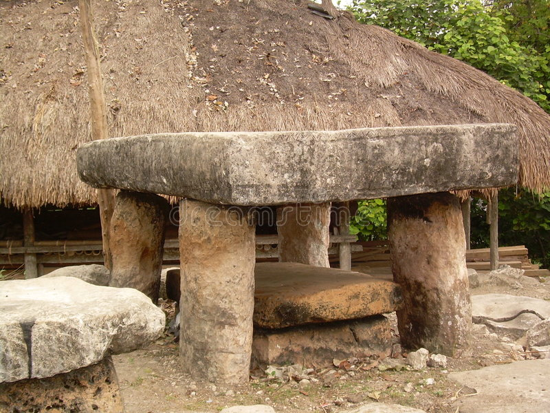 An ancient grave at West Sumba royalty free stock photography