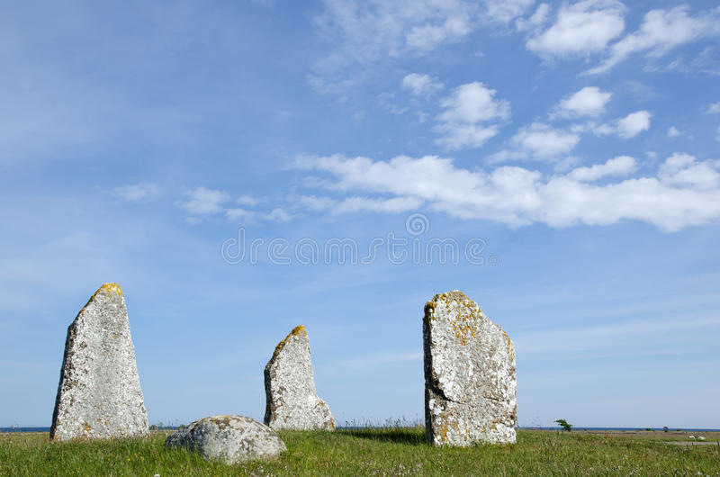 Ancient graves stock photo