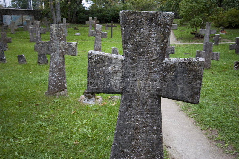 Ancient graveyard royalty free stock photography