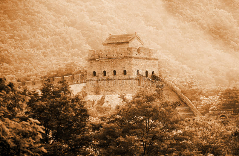 Download Ancient Great Wall Of China. Stock Photo - Image of great, mountain: 20595866