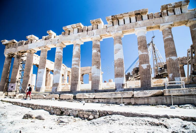 Ancient Greece. Greece is considered the cradle of Western civilization, being the birthplace of democracy, Western philosophy, the Olympic Games, Western royalty free stock image