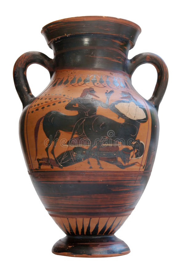 Download Ancient Greek Amphora Isolated Stock Photo - Image: 6518362