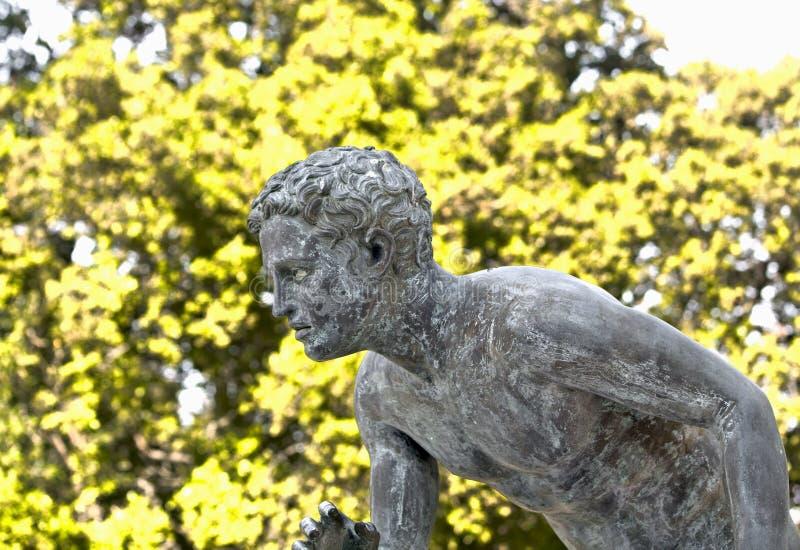 Ancient Greek bronze statue royalty free stock photo
