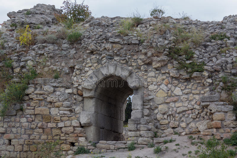 The ancient Greek city Chersonesus in Crimea stock images