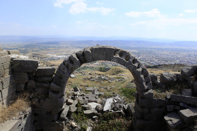 Download Ancient Greek City Of Pergamon In Bergama, Turkey Stock Photo - Image: 26648726