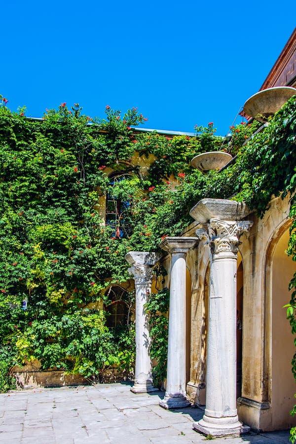 Ancient greek columnus of Chersonese. Sevastopol. Ukraine. The ancient greek columnus of Chersonese. Sevastopol. Ukraine royalty free stock image