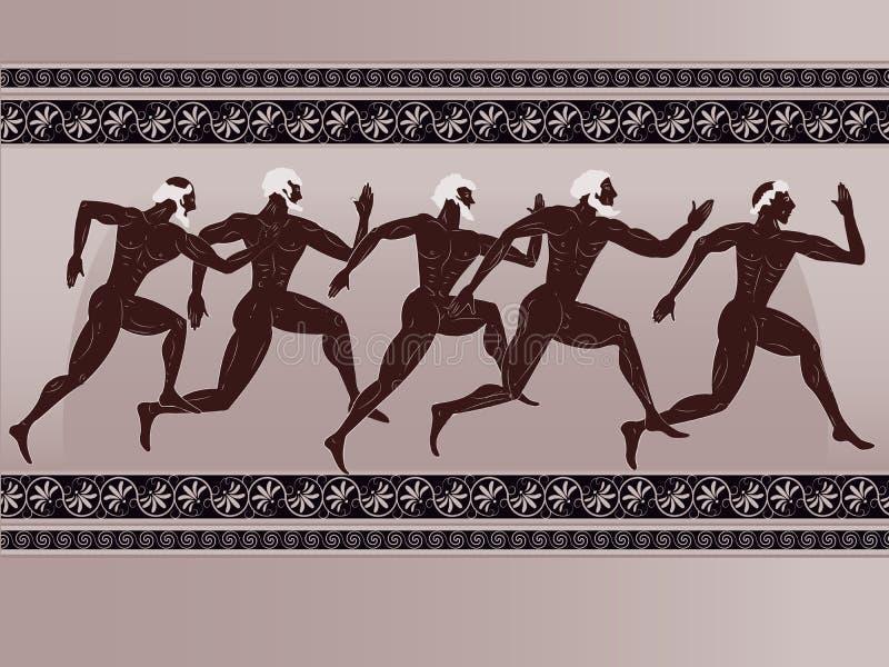 Ancient Greek figure vector illustration