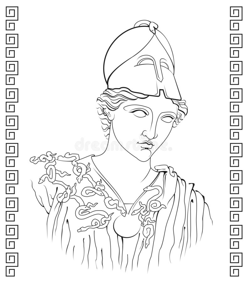 Ancient Greek goddess. Vector illustration of ancient Greek goddess stock illustration