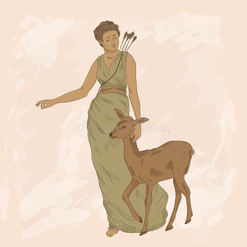 Goddess Artemis Stock Illustrations 158 Goddess Artemis